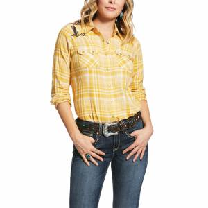 Ariat Ladies REAL Sunrise Long Sleeve Snap Shirt