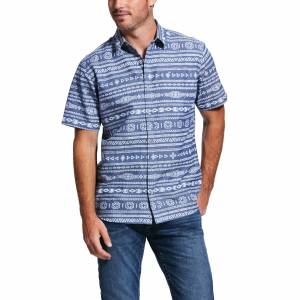 Ariat Mens Quarmac Retro Fit Short Sleeve Snap Shirt