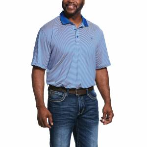 Ariat Mens Micro Stripe TEK Polo Shirt