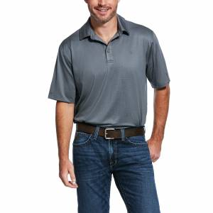 Ariat Mens Birdseye Short Sleeve Button Polo Shirt