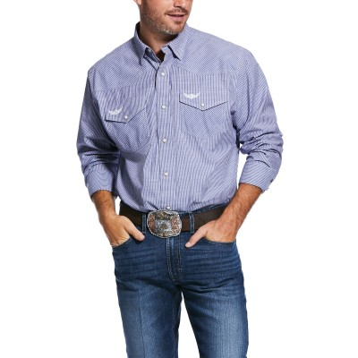 Ariat Mens Relentless Positive Stretch Classic Fit Long Sleeve Shirt