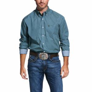 Ariat Mens Wrinkle Free Zanger Print Classic Fit Long Sleeve Shirt