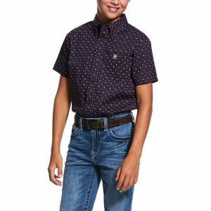 Ariat Kids Redland Print Classic Fit Short Sleeve Shirt