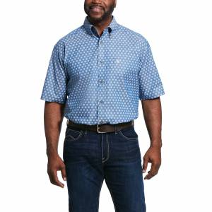 Ariat Mens Rossmoor Print Classic Fit Short Sleeve Shirt