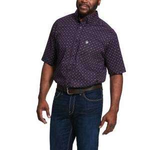 Ariat Mens Redland Print Classic Fit Short Sleeve Shirt