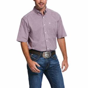 Ariat Mens Pro Series Sherwood Stretch Classic Fit Short Sleeve Shirt