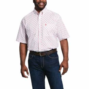 Ariat Mens Saratoga Print Classic Fit Short Sleeve Shirt