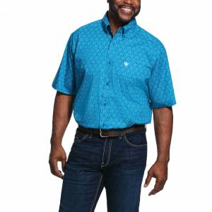 Ariat Mens Solano Print Classic Fit Short Sleeve Shirt