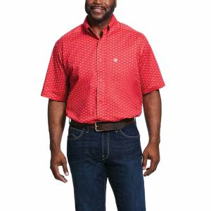 Ariat Mens Stanton Print Classic Fit Short Sleeve Shirt
