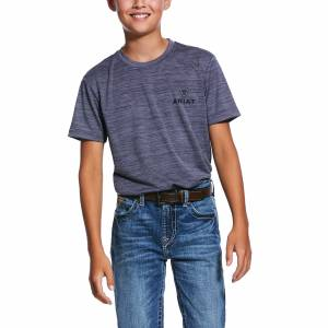 Ariat Kids Charger Vertical Flag Short Sleeve T-Shirt