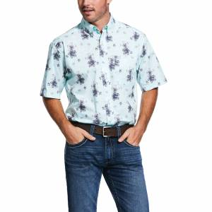 Ariat Mens Granada Print Stretch Classic Fit Short Sleeve Shirt