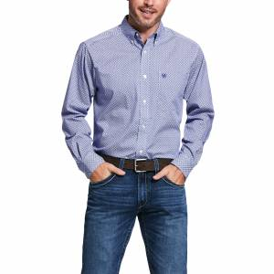 Ariat Mens Vale Print Stretch Fitted Long Sleeve Shirt