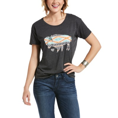 Ariat Ladies Old West Bison Short Sleeve T-Shirt