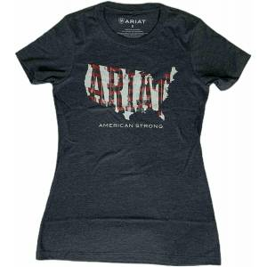 Ariat Ladies Wood USA Short Sleeve T-Shirt