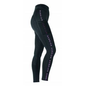 Shires Aubrion Kids Brook Logo Riding Tights
