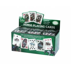 Kelley and Company Countertop Display of 12 Horse Playing Cards