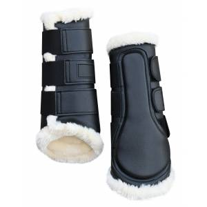 Gatsby Synthetic Horse Boots with Faux Sheepskin