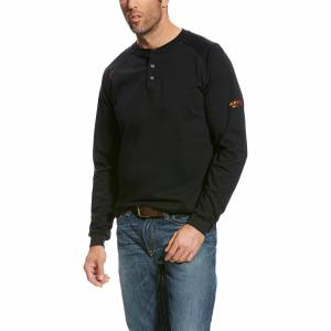 Ariat Mens Flame Resistant Long Sleeve Henley Top