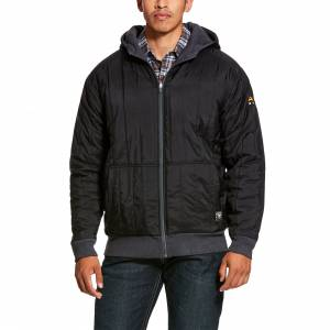 Ariat Mens Rebar Cold Weather Reversible Full Zip Hoodie