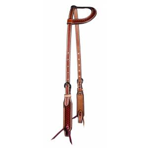 Professionals Choice Basket Weave One-Ear Headstall