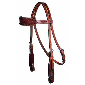 Professionals Choice Cross Stitch Browband Headstall