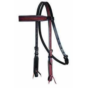 Professionals Choice Basket Weave Browband Headstall