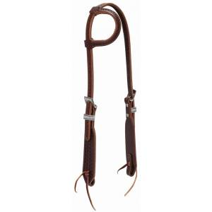Weaver Synergy Hand-Tooled MayanSliding Ear Headstall with DesignerHardware