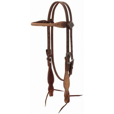 Weaver Rough Out Oiled BrowbandHeadstall