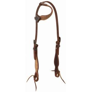 Weaver Rough Out Oiled Sliding EarHeadstall