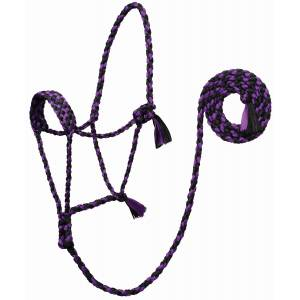 Weaver Leather Braided UV Rope Halter with 7' Lead