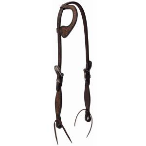 Weaver Leather Turquoise Cross Frontier Tack Sliding Ear Headstall