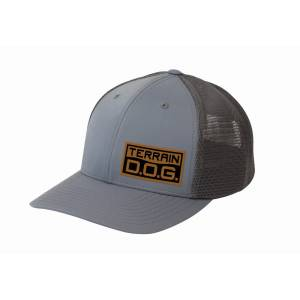 Weaver Leather Terrain D.O.G. Trucker Hat with Engraved Leather Patch and Mesh Back