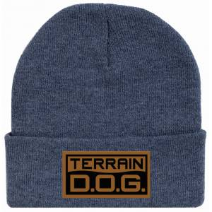 Weaver Leather Terrain D.O.G. Stocking Beanie with Engraved Leather Patch
