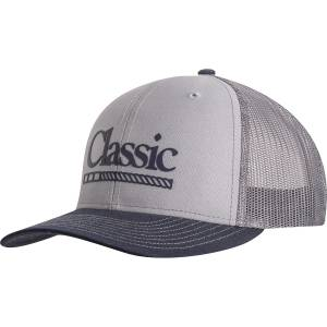 Classic Rope Mens Snapback Mesh Cap with Silicone Transfer Logo