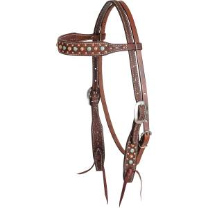 Martin Saddlery Embossed Floral Dots Browband Headstall