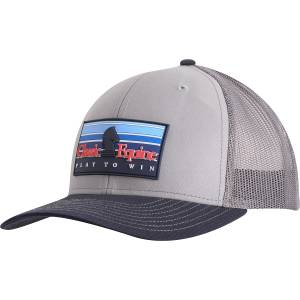 Classic Equine Mens Snapback Mesh Cap with Rubber Patch Logo
