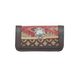 American West Ladies Hand Woven Tapestry Tri-Fold Wallet