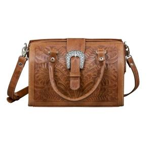 American West Vintage Small Doctor's Satchel with Snap Closure