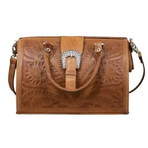 American West Vintage Large Doctor's Satchel with Snap Closure