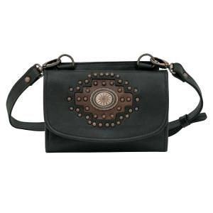 American West Midnight Copper Texas Two Step Small Crossbody/Wallet Bag