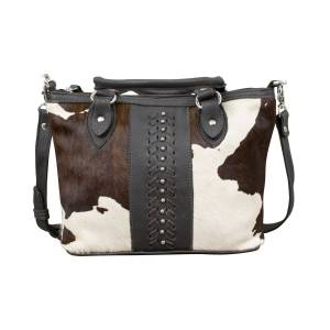 American West Cow Town Small Zip-Top Conceal Carry Satchel - Pony Hair
