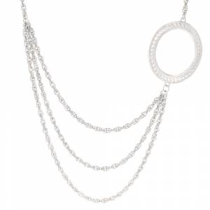Montana Sivlersmiths Circle of Life Layered Chain Necklace