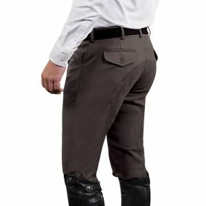 Ovation Mens EuroWeave DX 4-Pocket Front Zip Full Seat Breeches