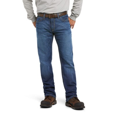 Ariat Mens FR M4 Low Rise DuraStretch Stitched Incline Boot Cut Jeans