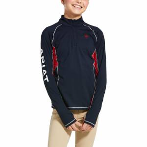 Ariat Kids Lowell 2.0 1/4 Zip Long Sleeve Baselayer Shirt