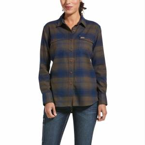 Ariat Ladies Rebar Flannel DuraStretch Work Shirt