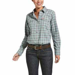 Arait Ladies FR Eberly Long Sleeve Snap Work Shirt