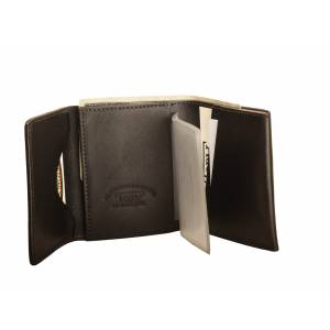 Tory Leather Trifold Wallet with Removable Card Window