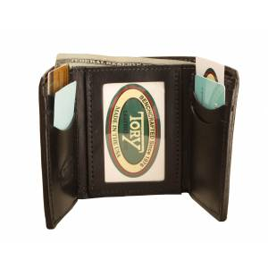 Tory Leather Trifold Wallet with ID Pocket