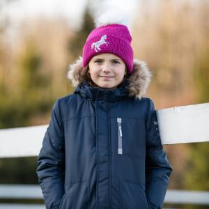 Horze Kids Terry Reflective Knitted Hat
